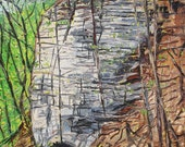 "Bluffs. Landscape Painting. Oil on Canvas. 16"" x 20"". Columbia, Missouri."