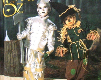 Halloween Costume Pattern, Tin Man and Scarecrow from The Wizard Of Oz, Children's Sizes 3, 4, 5, 6, 7, 8, UNCUT Simplicity 7814