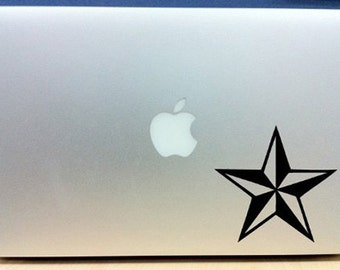 Nautical Star - Vinyl Macbook / Laptop Decal Sticker