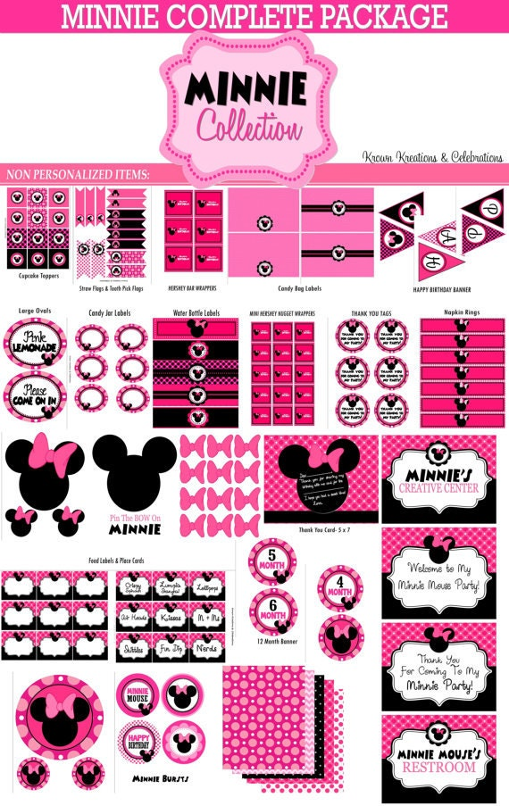 minnie mouse party printables pictures to pin on pinterest pinsdaddy. Black Bedroom Furniture Sets. Home Design Ideas