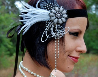 DARK VIXEN Feather Flapper Headband