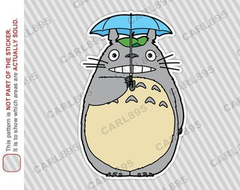 Totoro Umbrella - Car Truck SUV Vinyl Bumper Sticker