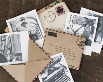 Airmail Stationery, Note Cards, Mini Note Cards, Airmail Envelopes, Instant Photography, Paper Goods, Stationery