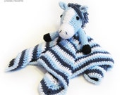Horse Lovey CROCHET PATTERN instant download - blankey, blankie, security blanket