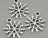 Snowflake Charms Antique Silver 8pcs base metal beads 15X20mm CM0551S