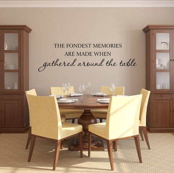 Items similar to vinyl wall decals fondest memories decal for Dining room quote decals