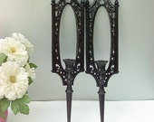 Take  50% OFF_Vintage  Satin Black Ornate Sconces Homco Syroco
