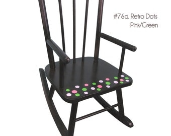 Toddlers Rocking Chair in Espresso Cherry Finish Childrens Hand ...