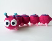 Caterpillar Crochet Pattern, Amigurumi Caterpillar Pattern, Caterpillar Amigurumi Pattern, Insect Crochet Pattern, Amigurumi Insect Pattern