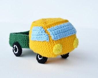 Pickup Truck Crochet Pattern, Pickup Crochet Pattern, Pickup Car Crochet Pattern, Truck Crochet Pattern, Pickup Truck Amigurumi Pattern