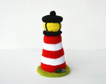 Lighthouse Crochet Pattern, Lighthouse Amigurumi Pattern, Crochet Lighthouse Pattern,