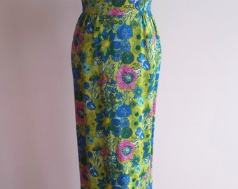 Vintage Garden Floral Maxi Dress