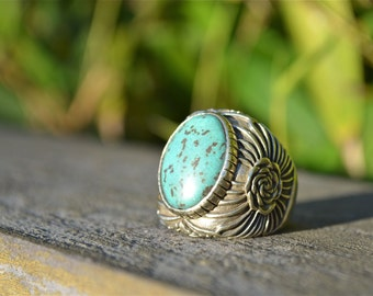 Stella Rose by Heart Majestic Turquoise Ring |rose ring|turquoise ring|rose jewelry|Turquoise jewelry|gold turquoise ring
