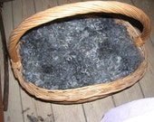 Gotland Washed Fleece 100 gr. Dark Charcoal To Light Grey Spinning And Feltart