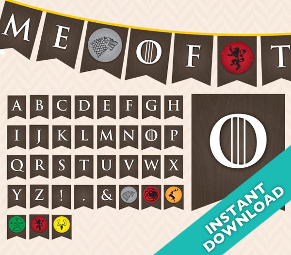 printable game of thrones party banner use again and again
