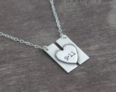 Twin Tower Sterling Silver Necklace - 9 11 Remembrance