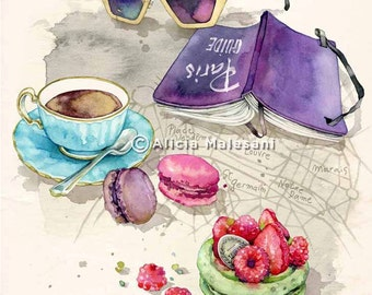 Tea Time - A4 - GICLEE Fine Art Print. 8x11,5 inches
