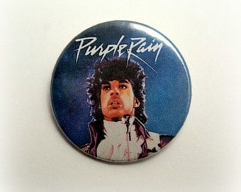 Prince -Purple Rain- button badge or magnet 1.5 Inch