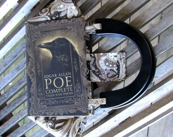 BOOK PURSE - Edgar Allan Poe Complete Tales and Poems - Made to Order