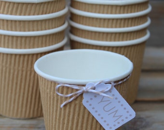 Rippled Kraft Cups- 4 ounces
