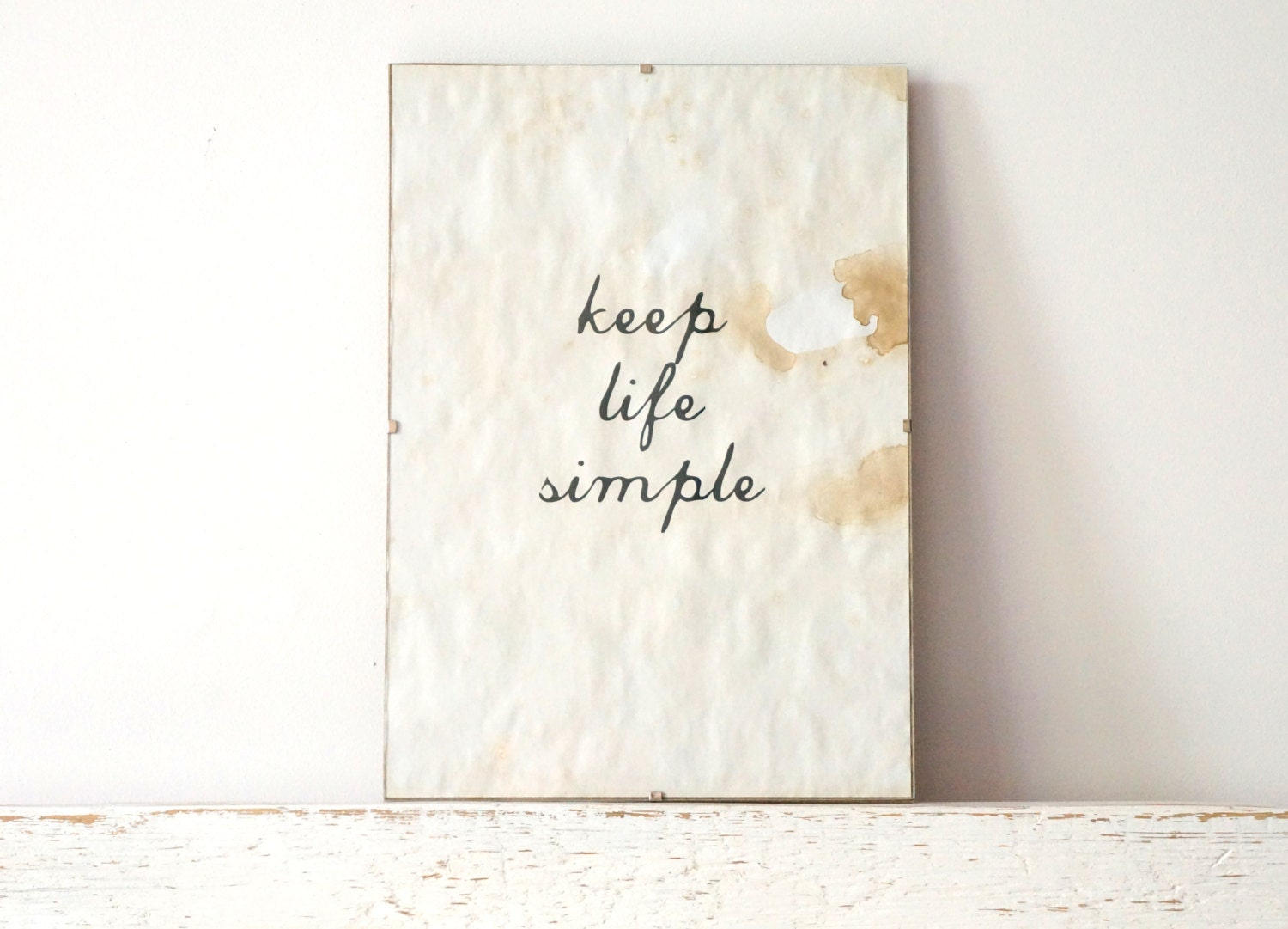 Wall decor poster sign keep life simple for Minimalist living what to keep