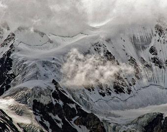Mountains, Snow, Kluane Front Range, Yukon Territory 2