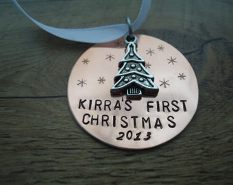 Baby's First Christmas tree Ornament - First Christmas - Personalized Ornament - Name Gift - baby ornament