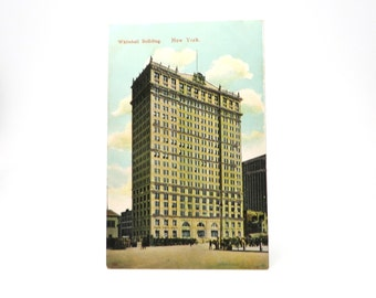 Antique Postcard NYC Whitehall Building New York 1900s