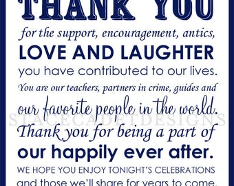 Custom Printable Wedding Thank You Card Digital File Digital File