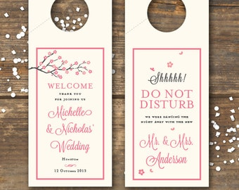 Wedding Door Hanger - Cherry Blossom - DIY Printable