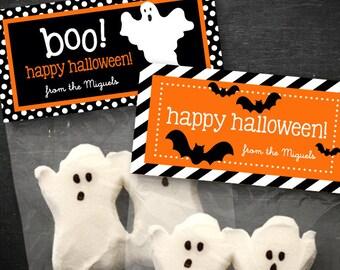 Halloween Treat Bag Topper - DIY Printable - Bats & Ghosts