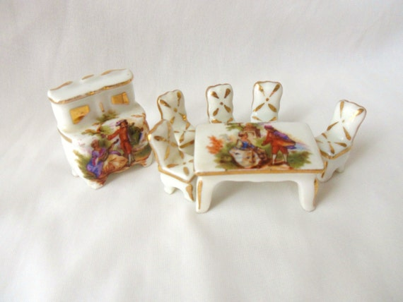 Limoges French Dollhouse Furniture Miniature By Mountainthyme1