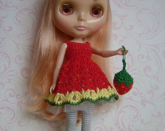 BLYTHE Dress & Headpiece -#1- Hand Crocheted
