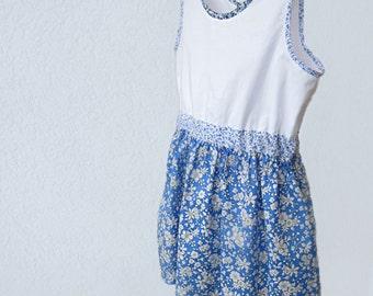 FRESH white & blue TODDLER DRESS - Liberty of London