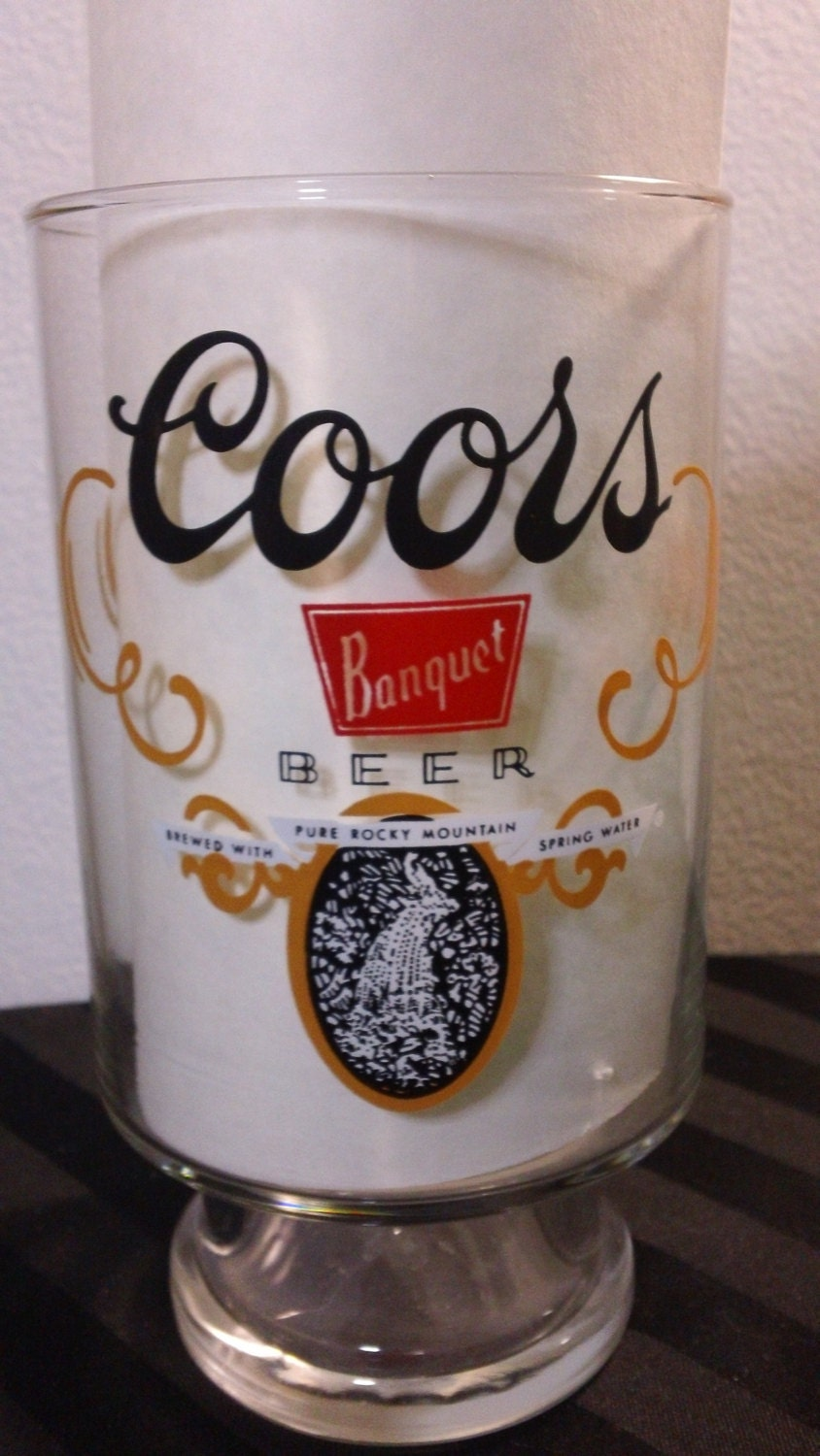 vintage coors the banquet beer oversized beer by kitschannette. Black Bedroom Furniture Sets. Home Design Ideas