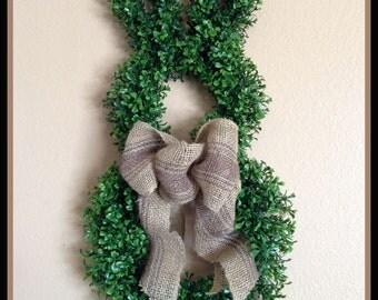 Boxwood Bunny - Easter Wreath - Bunny Wreath -  Boxwood Wreath- Easter Decoration - Easter Door Wreath - Boxwood Bunny Wreath