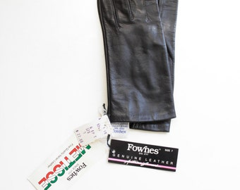 NWT Fownes Metisse Gloves - Genuine Italian Leather, Black Size Small Accessory