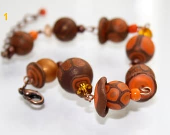 Cappuccino - Polymer Clay Bracelet