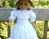 American Girl Doll Clothes - Summer Dress and Bonnet