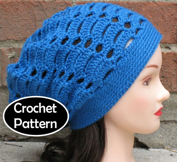 Crochet Hat Pattern Download : CROCHET HAT PATTERN Instant Download Aria Slouchy Beanie