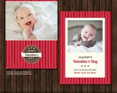 INSTANT Download 5x7 PSD Valentine's Card Template - V5
