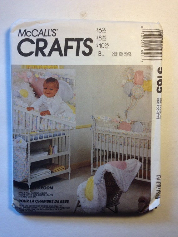 McCalls Sewing Pattern 5165 Babys Room Package Sale