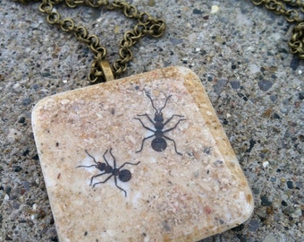 Ant Jewelry Necklace, Insects are What's Hot Now for 2015, Insect Jewelry, Summer Jewelry, Handmade Bug Jewelry, Handmade Insects Jewelry