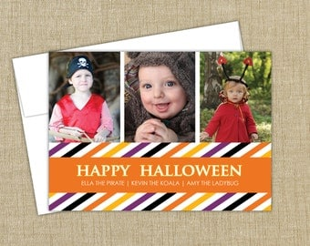 Halloween Photo Card. Happy Halloween. 3 photo card