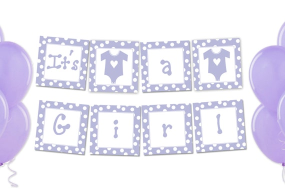 Items similar to Printable Its a Girl Banner - Pink ...