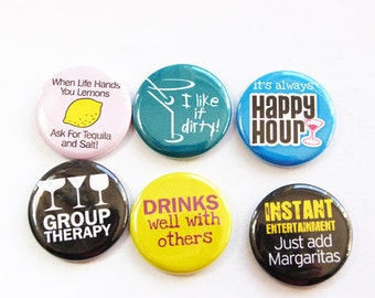 Funny magnets, Humor, Drinking, Tequila, Margarita, button magnets, Kitchen Magnets, Fridge magnets, bright colors, stocking stuffer (3271)