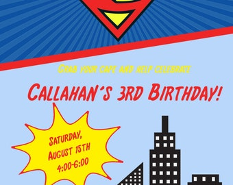 superman invitation