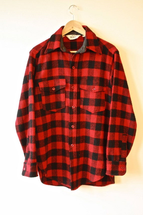 Woolrich Buffalo Plaid Shirt Red And Black Mens Medium