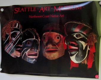 Tribal Poster Museum Exhibit Seattle Art Museum Northwest Coast Retro Art Vintage Advertisement