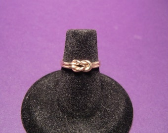 10K Gold Double Knot Ring - Real Gold Knot Ring - 10 Karat Gold Love Knot - Gold Knot Ring - Bridesmaids